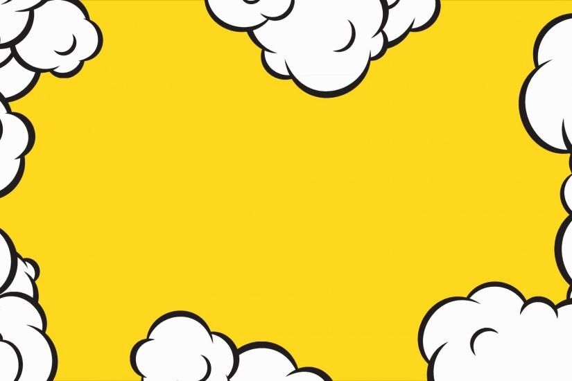 Cartoon pop art clouds animation frame. HD motion design on.