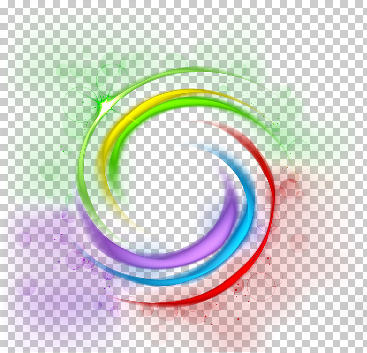 Light, Fantasy light effect background, rainbow artwork PNG.