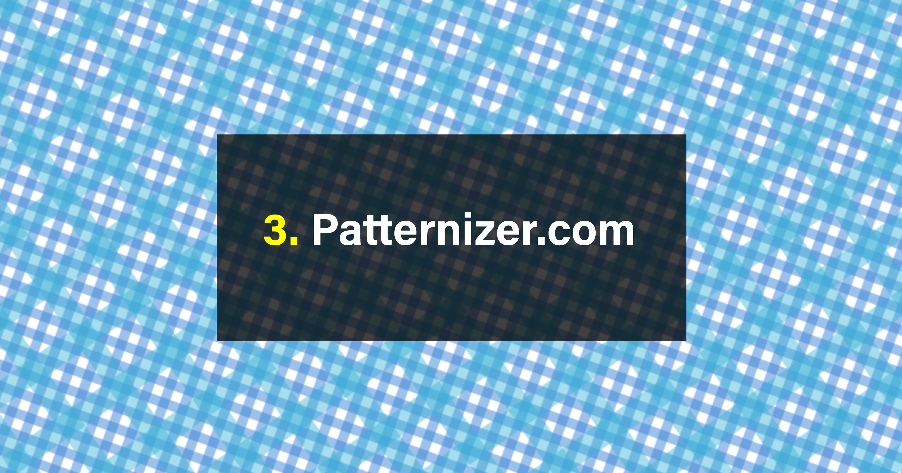 7 Free SVG Pattern Generators.