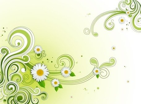 Green Floral Flower Background PSD Clipart Picture.