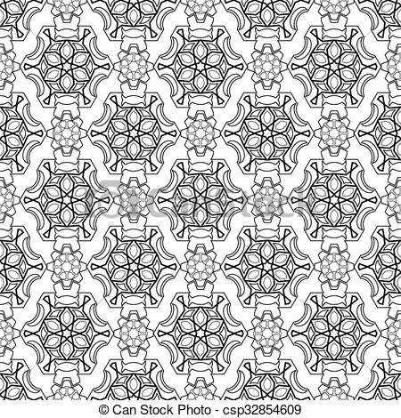 Simple vector seamless black and white background, texture. Endless texture  can be used for wallpaper, pattern fills, web page background,surface.
