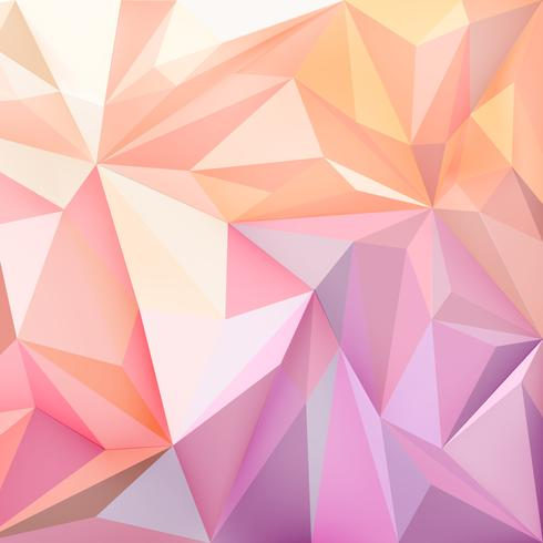 Background wallpaper with polygons in gradient colors.