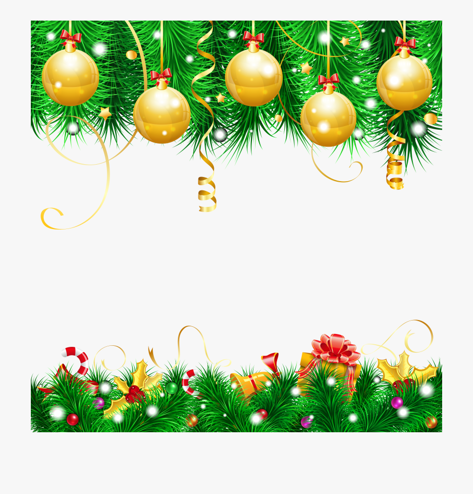 Clipart Transparent Background Merry Christmas Decoration.