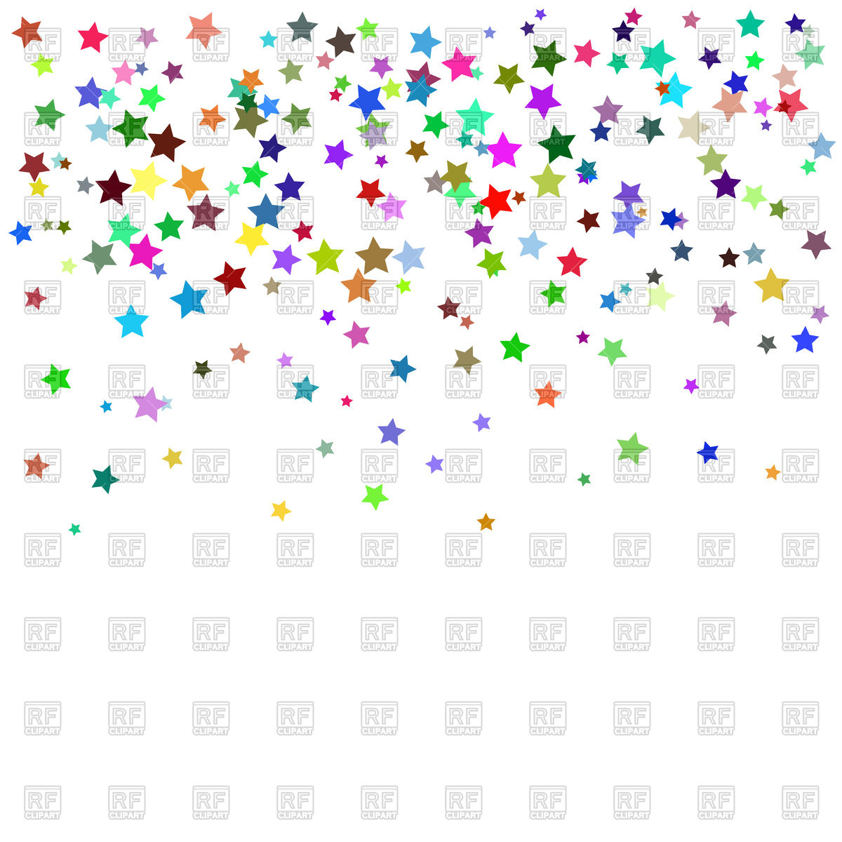 Starry confetti background Stock Vector Image.