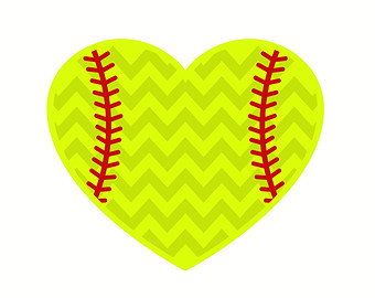 Softball Heart Clipart.