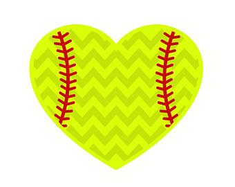 Softball Heart Clipart.