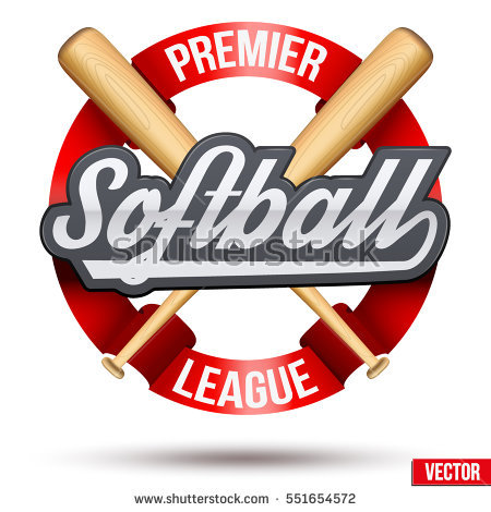 Softball Stock Images, Royalty.