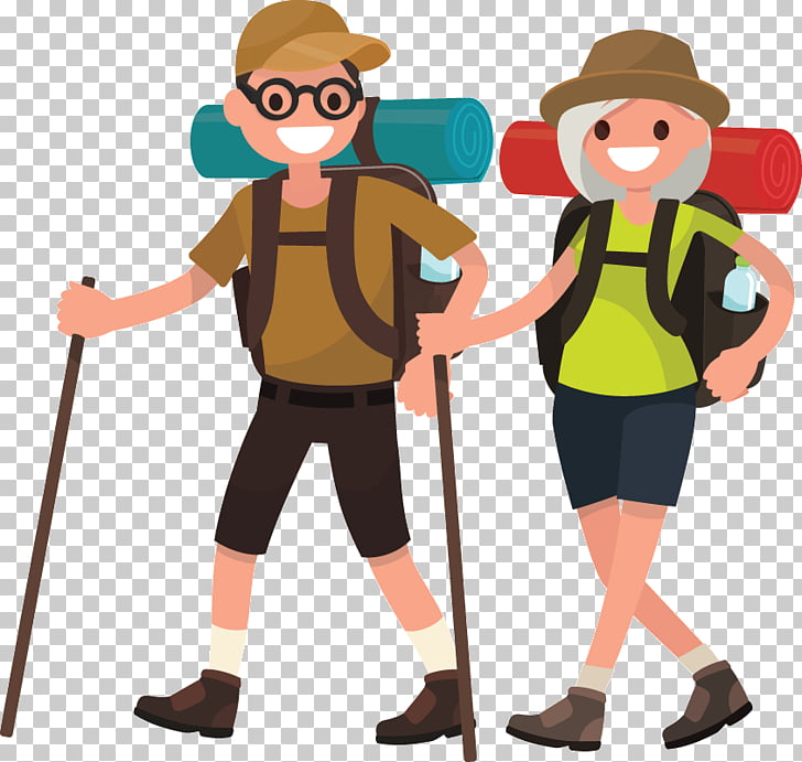 Hiking Drawing , backpacking PNG clipart.
