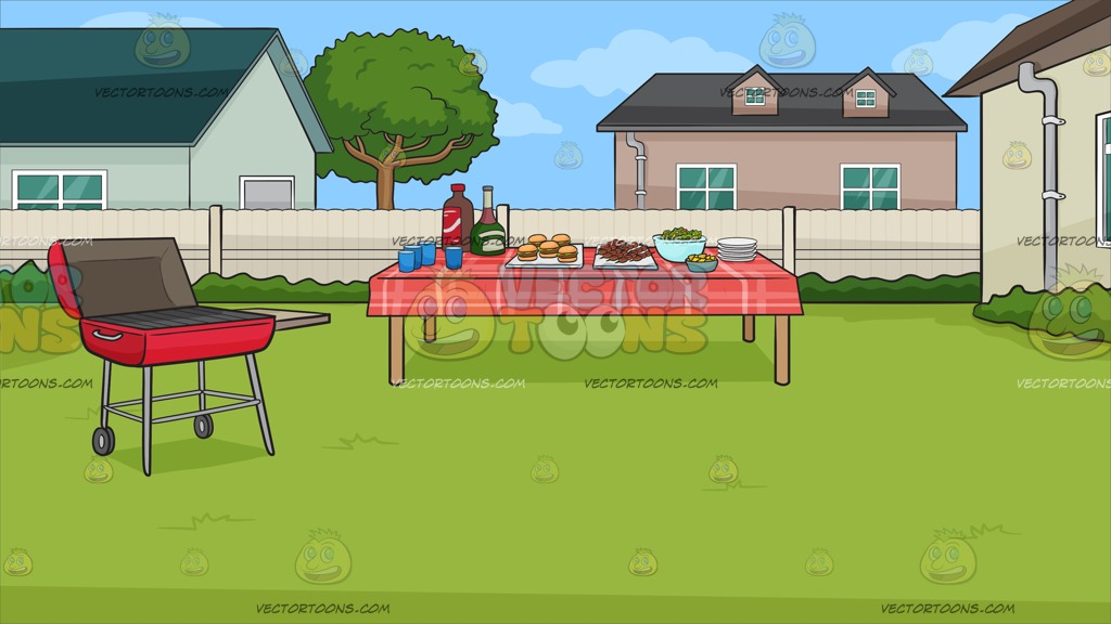 A Backyard Barbecue Background » Clipart Station.