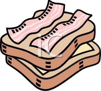 Bacon Sandwich Clipart Image.