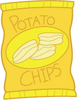 Clipart potato chips bags.