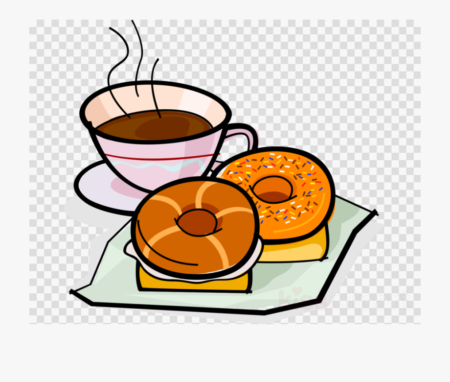 Coffee And Bagels Clip Art , Transparent Cartoon, Free.