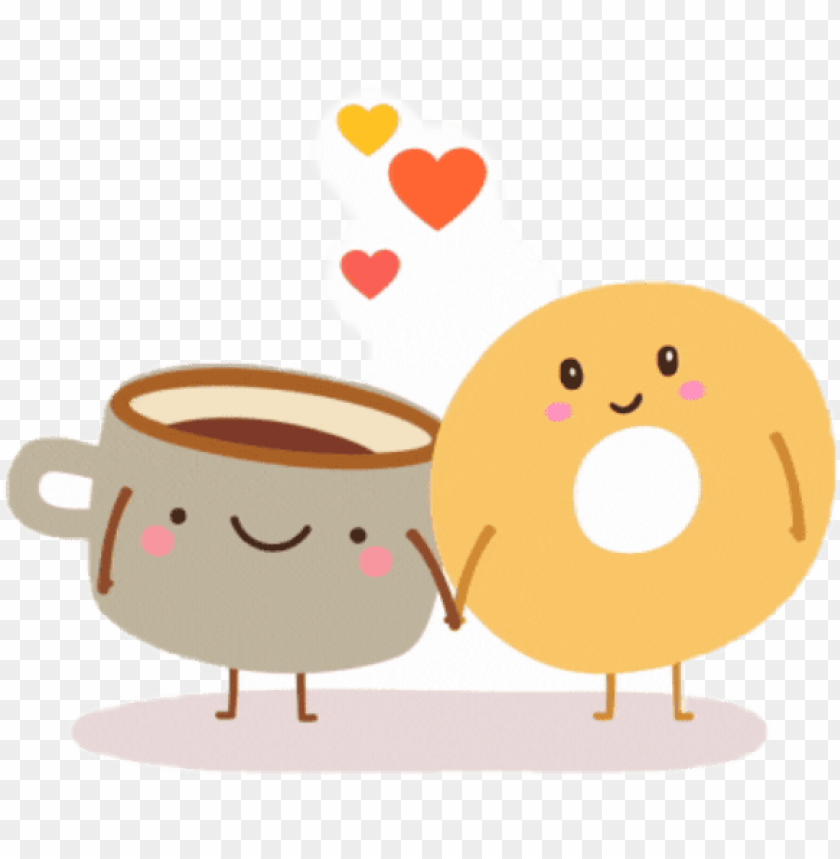 clipart bagels and coffee PNG image with transparent.