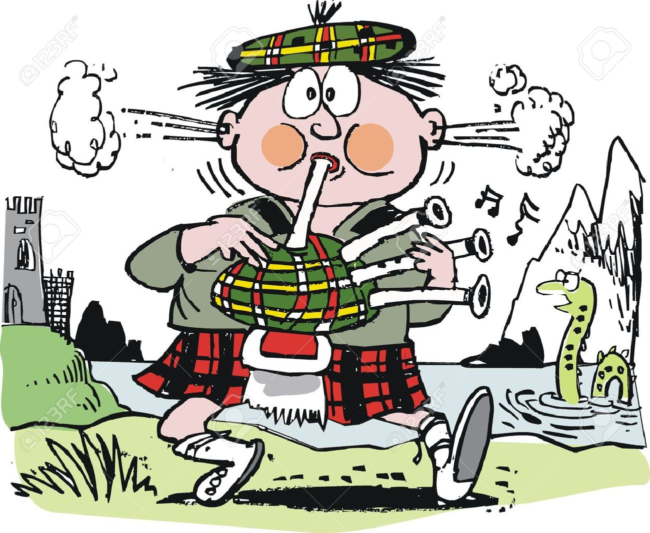 Showing post & media for Bagpipes cartoon.