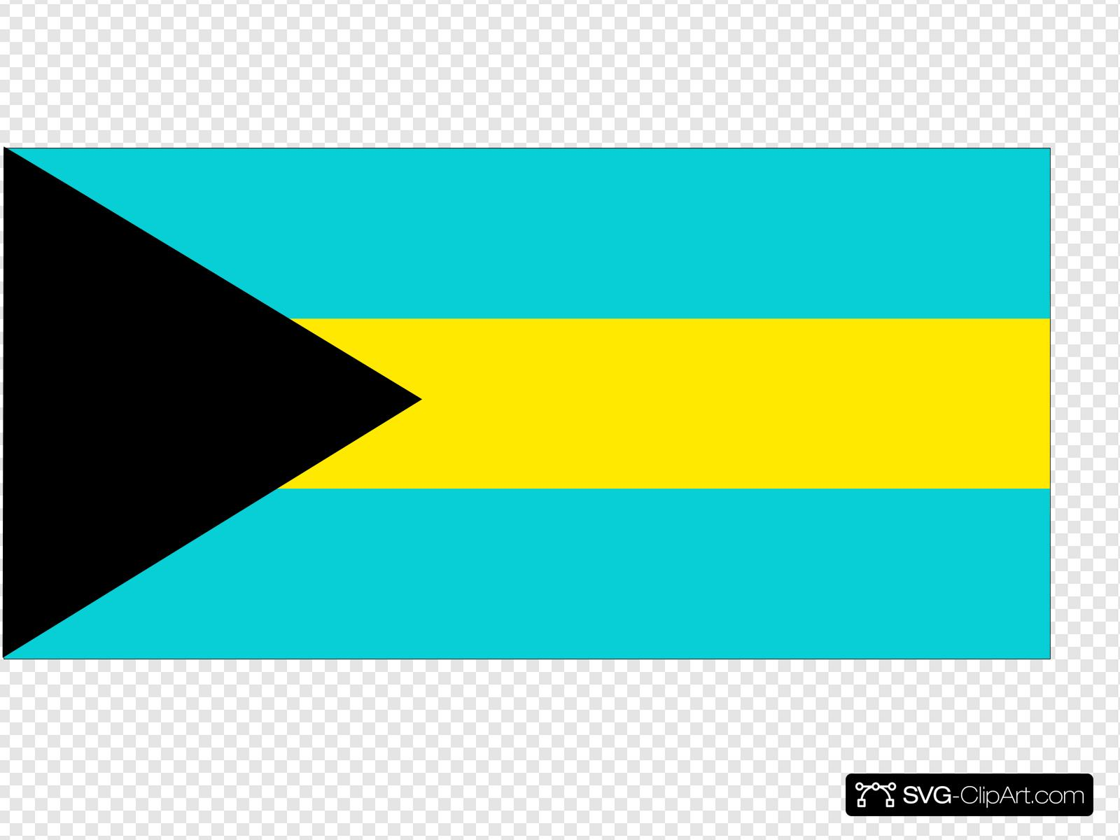 Flag Of The Bahamas Clip art, Icon and SVG.