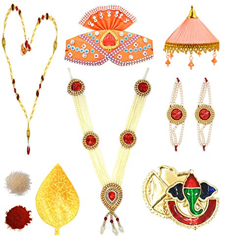 Aashya Mayro Combo Of 7 Ganpati Gold Plated Jewellery And.