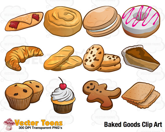 88 Baked Goods free clipart.