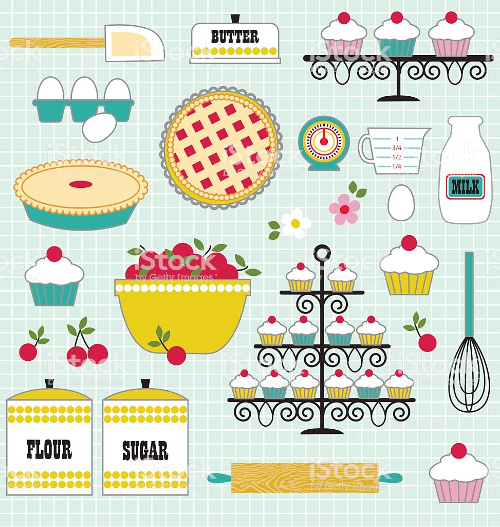 Baking Clipart Stock Illustration.