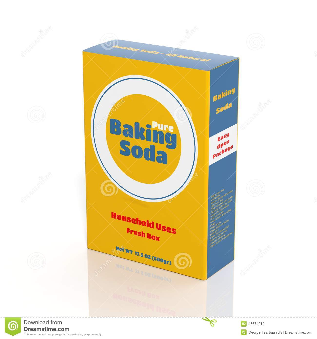 Clipart Baking Soda Box.