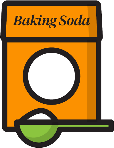 Baking Soda Use Instead Of Toilet And Shower Scrubs Clipart.