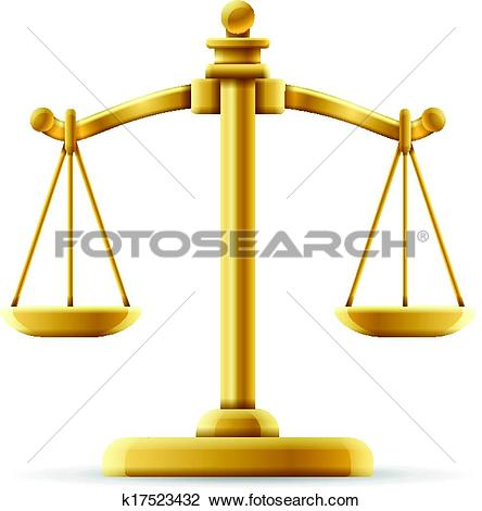 Clipart of Balanced Justice Scale k17523432.