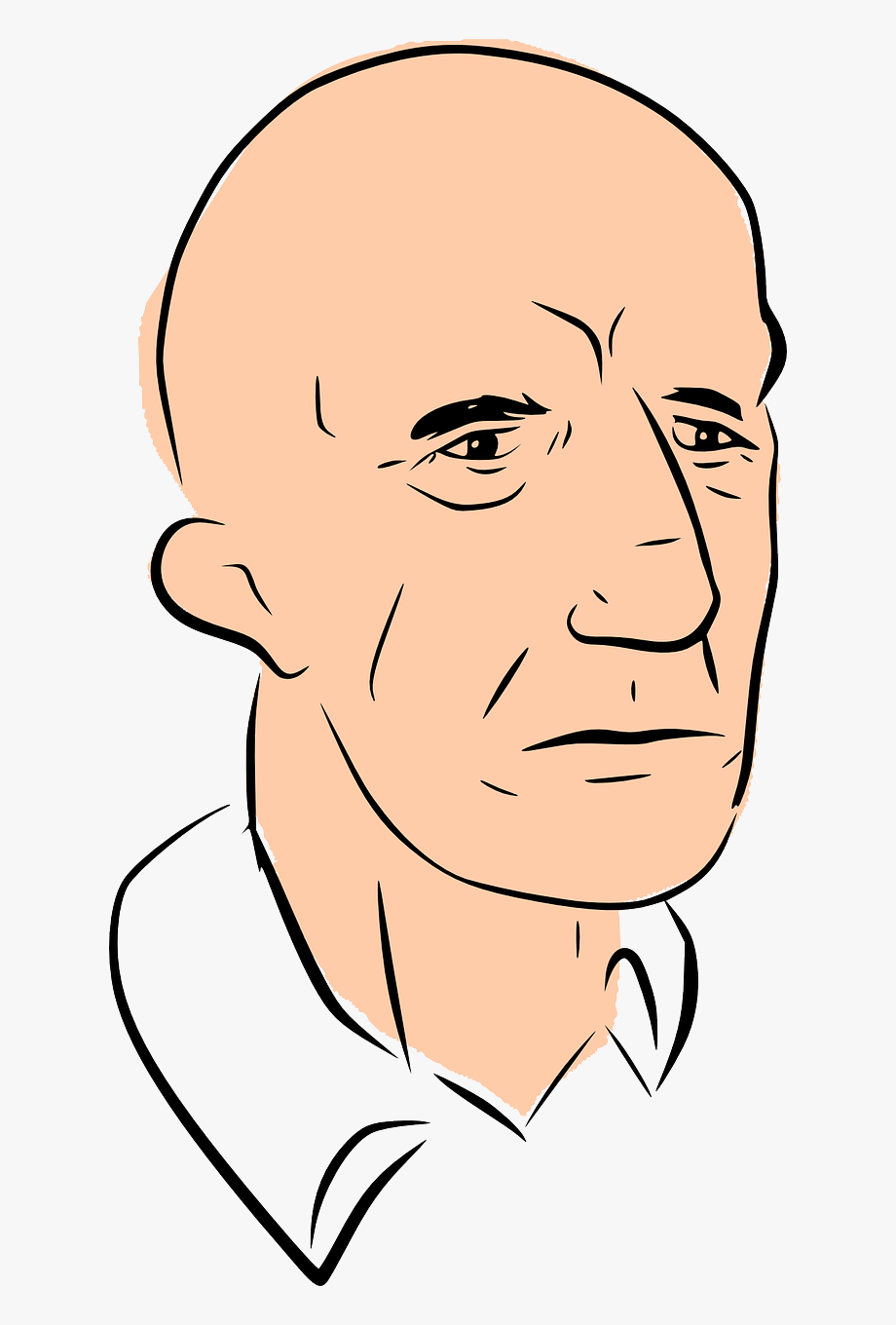 Bald Head Man Clipart, Cliparts & Cartoons.