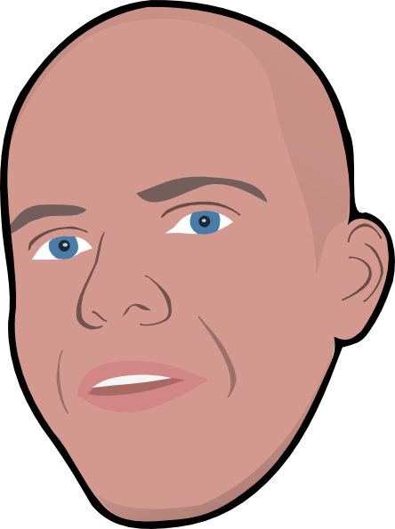 Bald dad clipart.