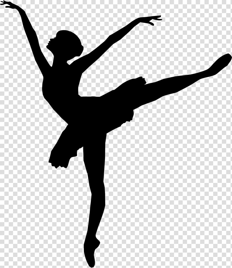 Ballet Dancer Silhouette, ballerina transparent background.