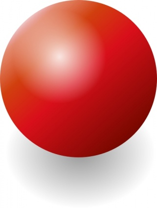 Red Shiney Ball clip art Clipart Graphic.