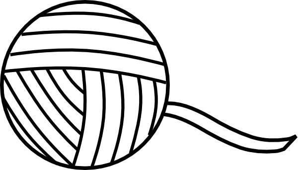 Ball Of Yarn Outline Clip Art at Clker.com.