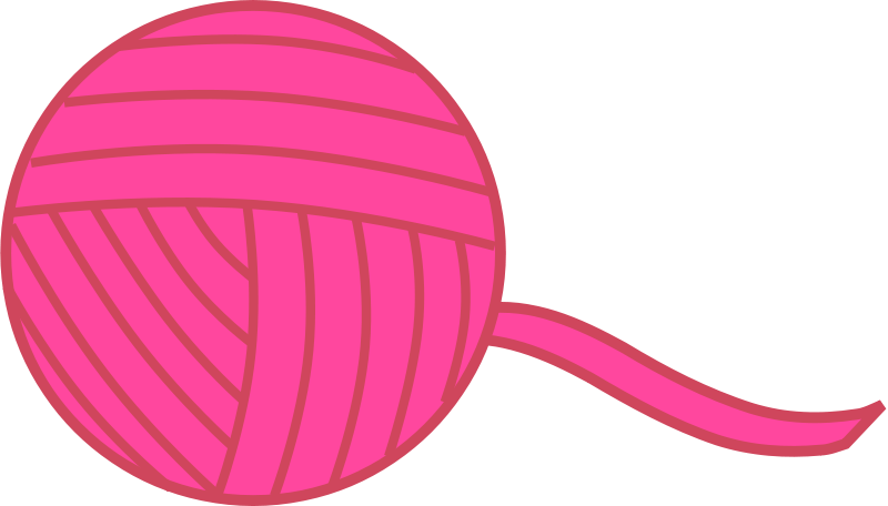 Free Clipart: Pink Ball of Yarn.