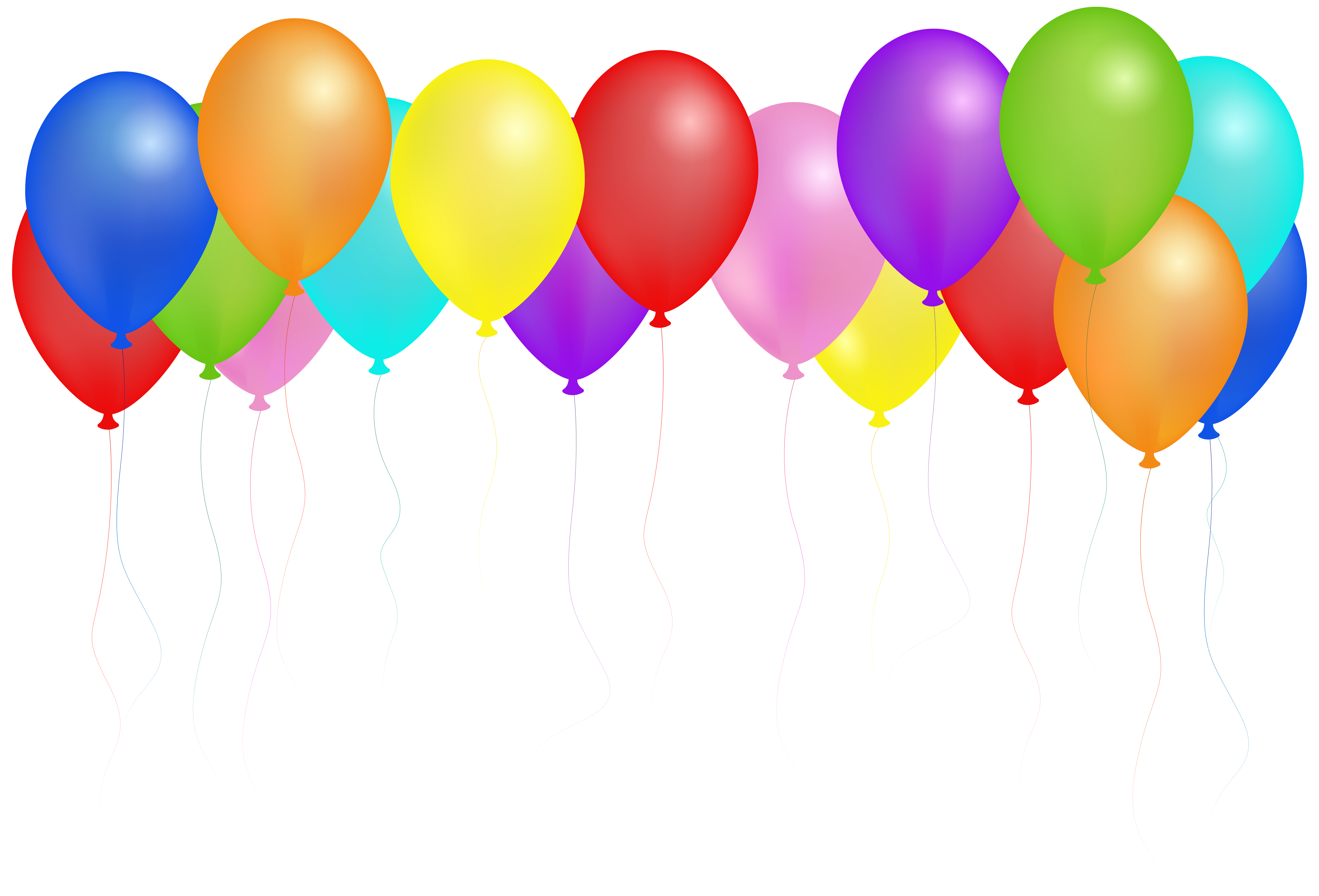 Balloons PNG Clip Art Image.