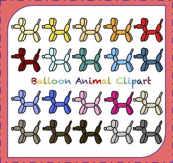 Balloon Clipart / Dog Clipart / Balloon Animals Clipart.