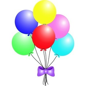 Bouquet Of Balloons Clip Art.