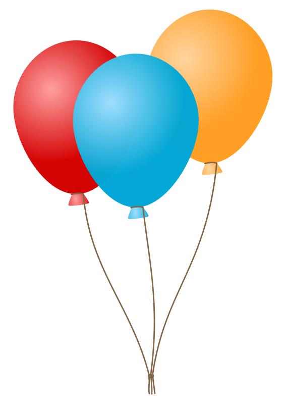 Balloon Bouquet Clipart.