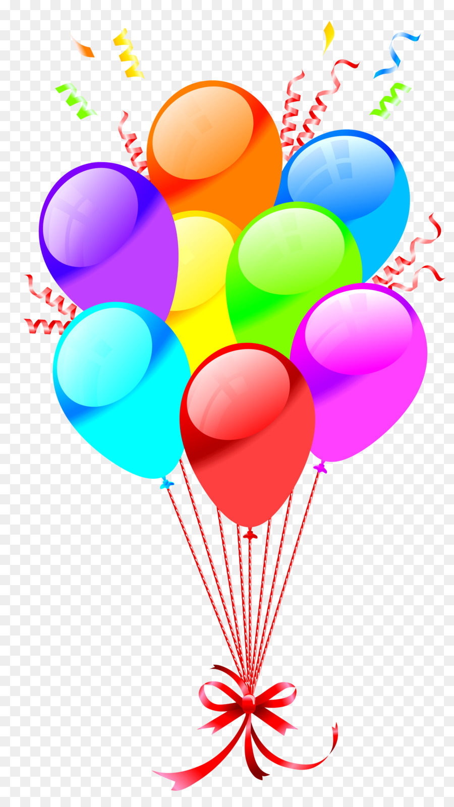 Happy Birthday Balloons clipart.