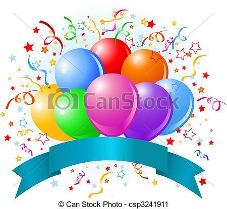 Birthday balloons design.