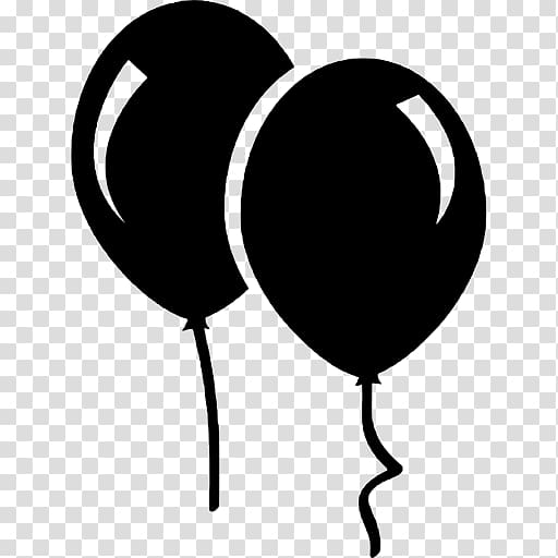Balloon Black and white , balloon transparent background PNG.
