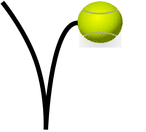 Tennis Ball Bounce Clip Art at Clker.com.