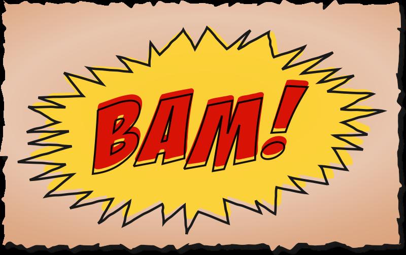 Free Clipart: BAM comic book sound effect.