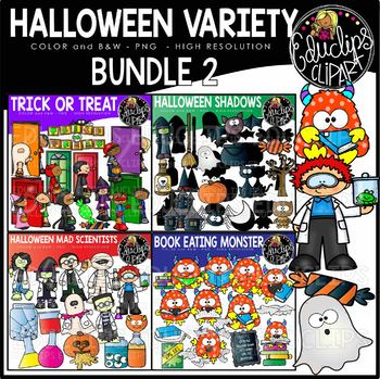 Halloween Clip Art Variety Bundle 2 {Educlips Clipart} by.
