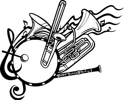 Band Instruments Clipart.