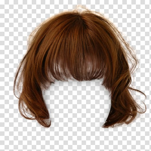 Hairstyle Wig Bangs, hair transparent background PNG clipart.