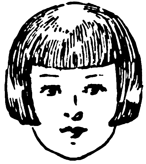 Hair Bangs Clipart.