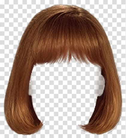 Wig Bangs Hairstyle, hair transparent background PNG clipart.