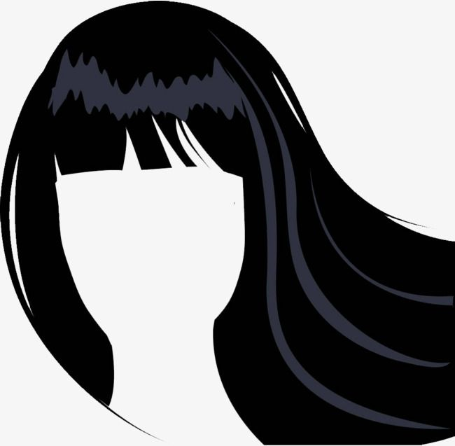 Vector Lady Hair Bangs, Lady Clipart, Ms. Hair Line, Ladies.