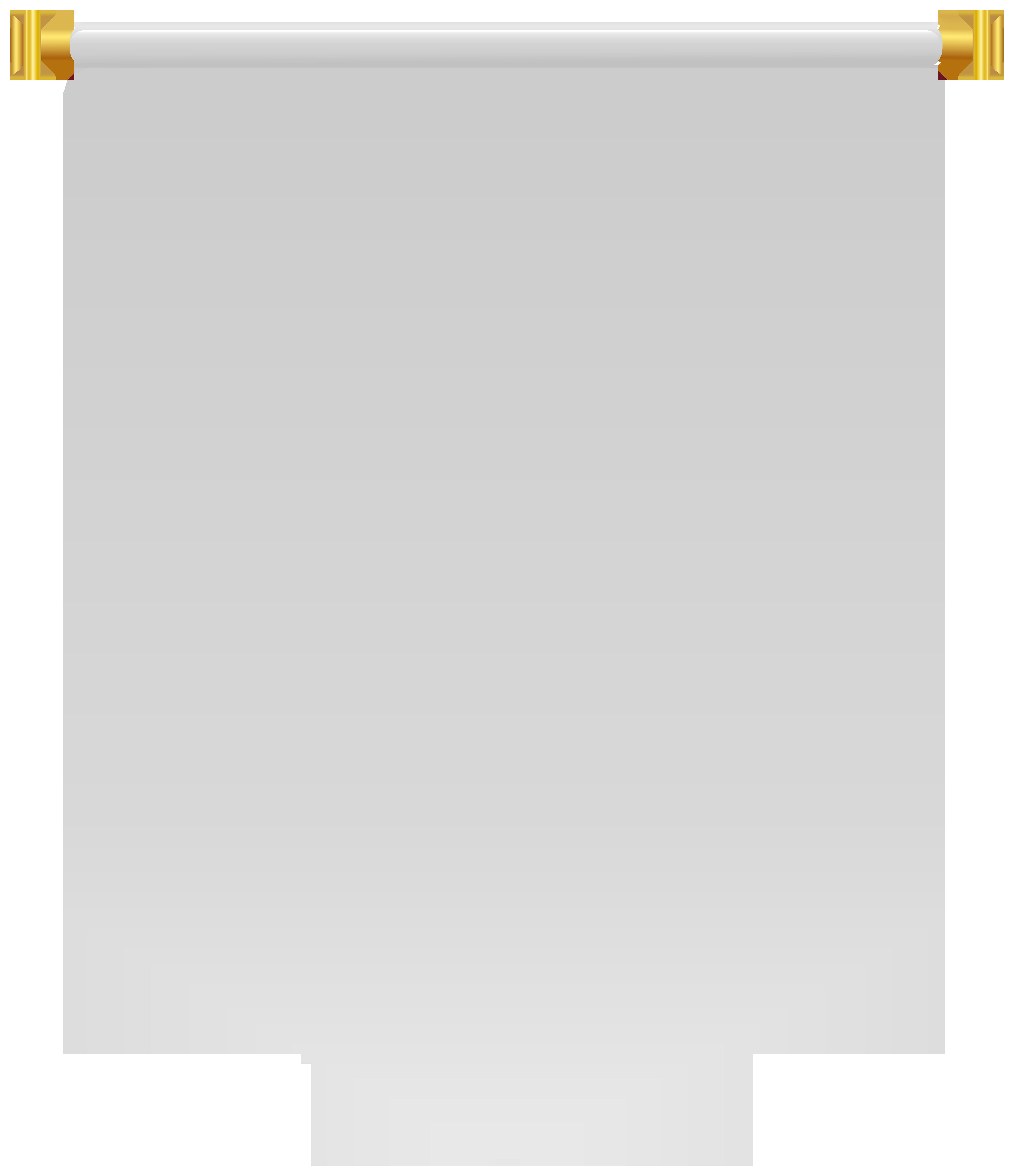 White Banner Flag PNG Clipart.