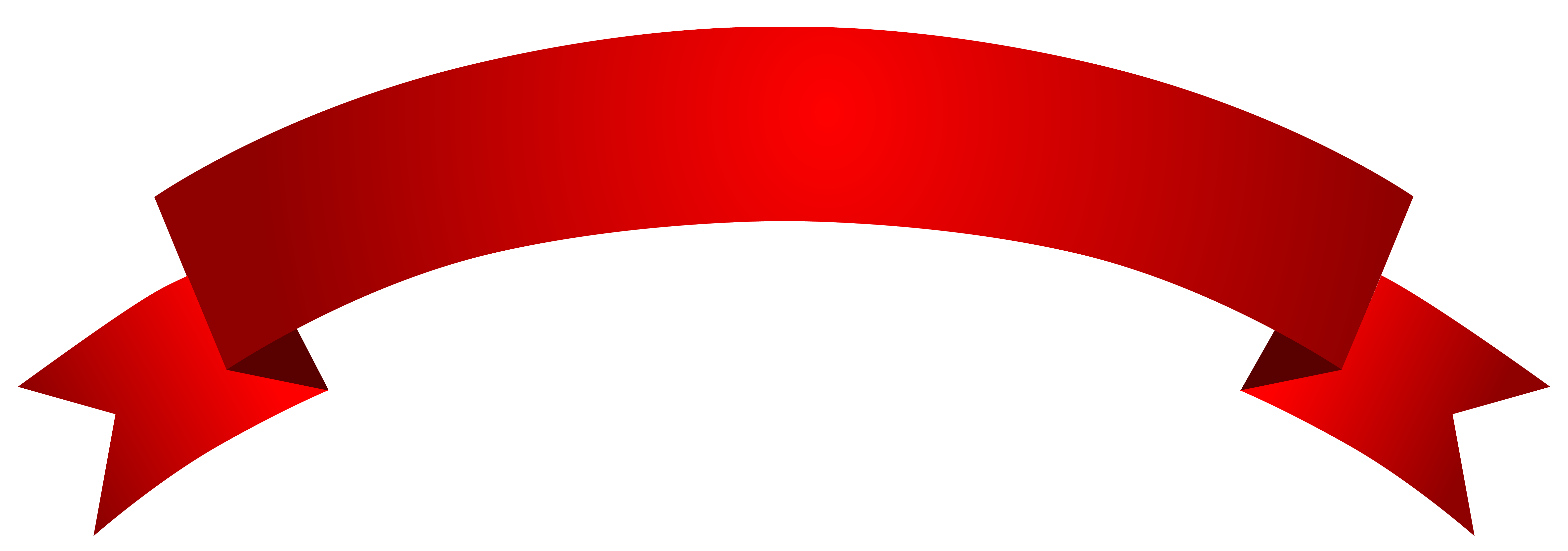 Banner Red Clipart PNG Picture.