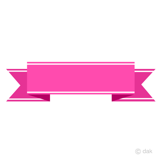 Free Pink Banner Ribbon Clipart Image|Illustoon.