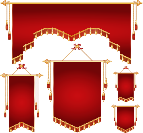 Royal banner different shapes vector (5).png.